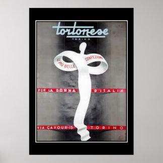 女性のファッションの広告イタリアンなポスタープリント ポスター
