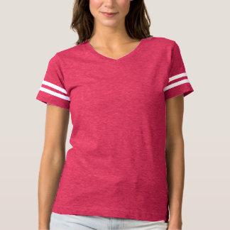 女性のフットボールのTシャツのピンクのhotPINK Tシャツ