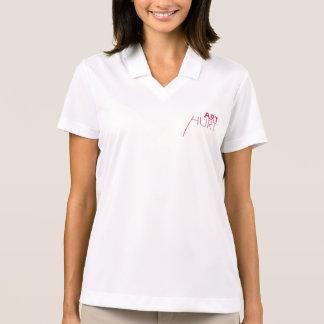 女性のフリースタイルのプルオーバー ポロシャツ