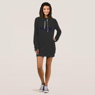 女性のフード付きスウェットシャツの服はとの自由なロゴの紫色です ドレス