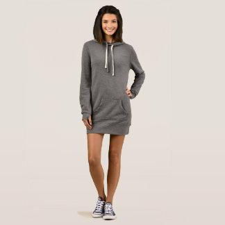 女性のフード付きスウェットシャツの服 ドレス