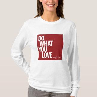 女性のフード付きスウェットシャツを愛するものして下さい Tシャツ