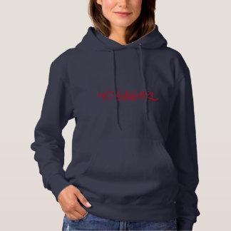 女性のフード付きスウェットシャツ パーカ