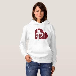 女性のフード付きスウェットシャツ(白い) パーカ