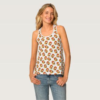女性のプルメリアのワイシャツの熱帯Racerbackタンク タンクトップ