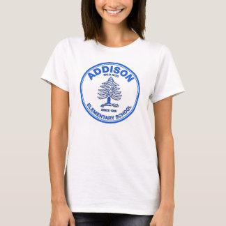 女性のベビードールのティー、青いロゴ Tシャツ