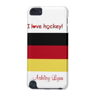 女性のホッケー! -ドイツの旗か女性の名前 iPod TOUCH 5G ケース