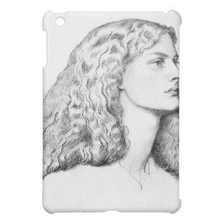 女性のポートレートのスケッチ iPad MINIケース