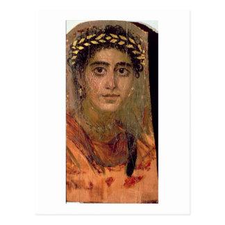 女性のポートレート、ロマノエジプトFayumから ポストカード