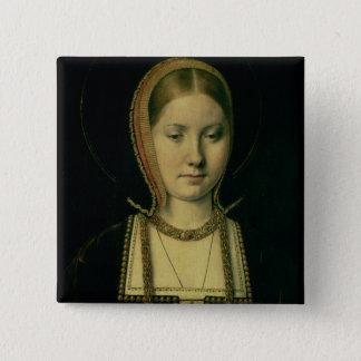 女性のポートレート、多分キャサリン・オブ・アラゴン 5.1CM 正方形バッジ