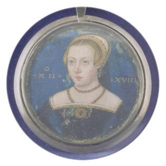 女性のポートレート、多分ジェーンGrey、c.154女性 プレート
