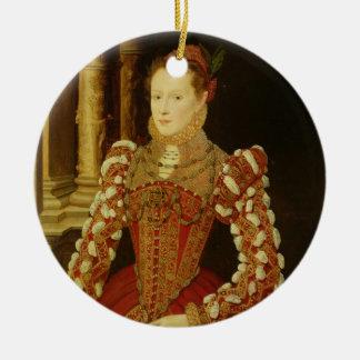 女性のポートレート、1567年(パネルの油) セラミックオーナメント