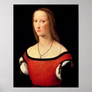 女性のポートレート、16世紀 ポスター