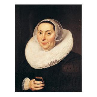 女性のポートレート、1665年 ポストカード