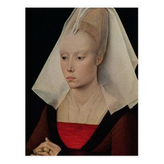 女性のポートレート、c.1450-60 ポストカード