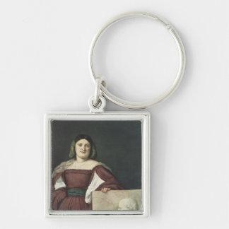 女性のポートレート、c.1510-12 キーホルダー