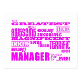 女性のマネージャー及びボス: すばらしいマネージャー ポストカード