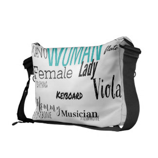 女性のメッセンジャーバッグ音楽版(blkか青) メッセンジャーバッグ