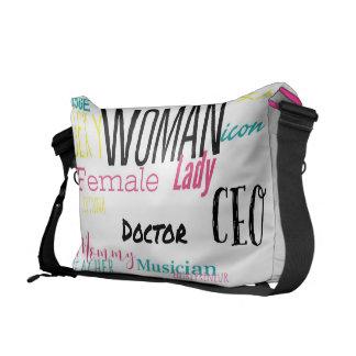 女性のメッセンジャーバッグ(L/pinkのトリムか数々の) メッセンジャーバッグ