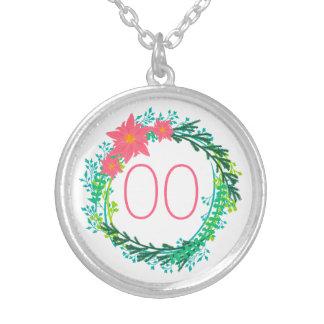 女性のリースの第18第21第30第40第50誕生日 シルバープレートネックレス