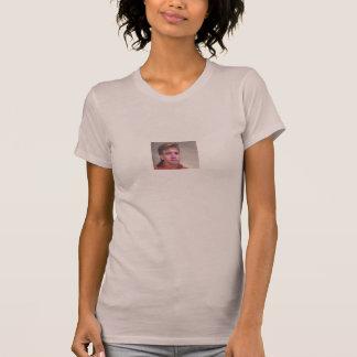 女性のレッドネックのヌードルの革紐 Tシャツ