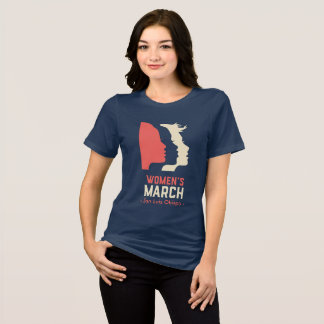 女性のロゴ3月SLO -国民の Tシャツ