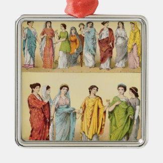 女性のローマの服 メタルオーナメント
