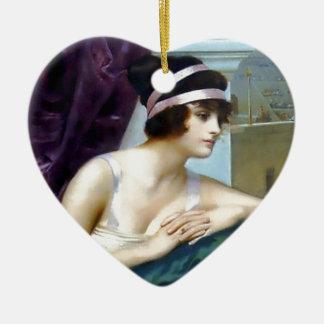 女性のローマのColosseumの絵画 セラミックオーナメント