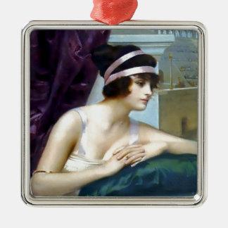 女性のローマのColosseumの絵画 メタルオーナメント