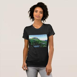 女性の丸首のグレーシャー国立公園のTシャツ Tシャツ