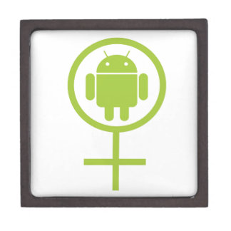 女性の人間の特徴をもつ(ソフトウェア開発者の)虫Droid ギフトボックス