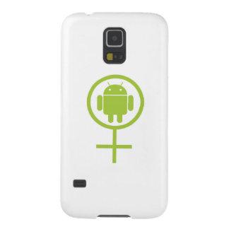 女性の人間の特徴をもつ(ソフトウェア開発者の)虫Droid Galaxy S5 ケース