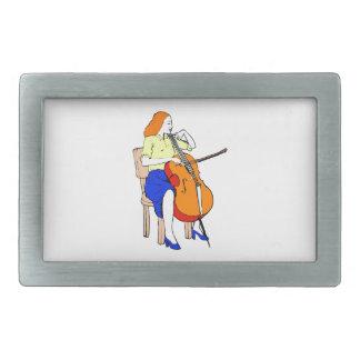 女性の低音のオーケストラの黄色shirt.png 長方形ベルトバックル
