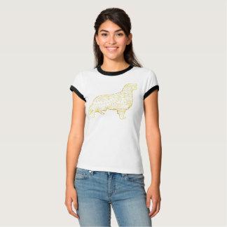 女性の信号器のTシャツのゴールデン・リトリーバー Tシャツ