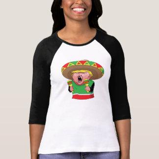 女性の切札のメキシコ人3/4の袖のTシャツ Tシャツ