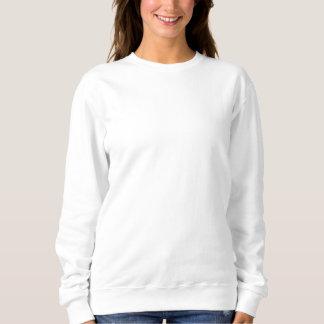 女性の刺繍されたスエットシャツ