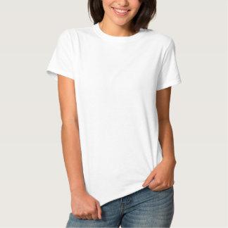 女性の刺繍された基本的なTシャツ 刺繍入りTシャツ