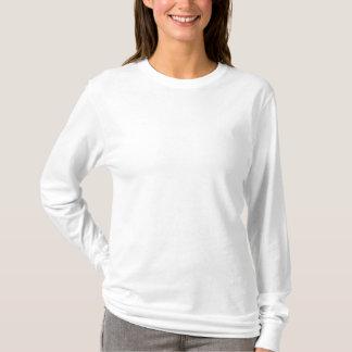 女性の刺繍された長袖のTシャツ 刺繍入り長袖Tシャツ