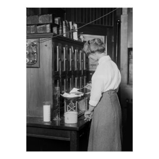 女性の化学者、1910年代 ポスター