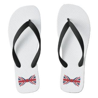女性の双安定回路-英国国旗のちょうネクタイ ビーチサンダル