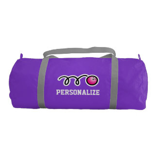 女性の名前の名前入りなピンクのボーリングのバッグ ジムダッフルバッグ
