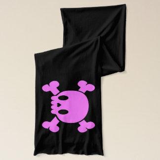 女性の名前入りなピンクのスカルのスカーフ スカーフ
