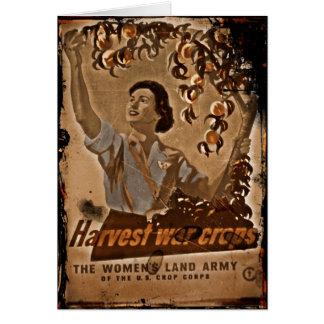 女性の土地の軍隊の収穫 カード