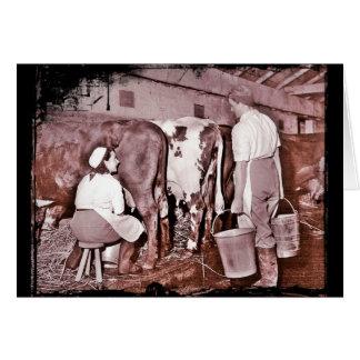 女性の土地の軍隊の酪農場WWII カード