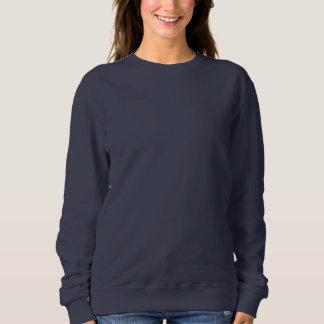 女性の基本的なスエットシャツの濃紺DIYのテンプレート スウェットシャツ