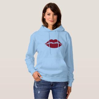 女性の基本的なフード付きのスエットシャツ-私の車輪に接吻して下さい パーカ