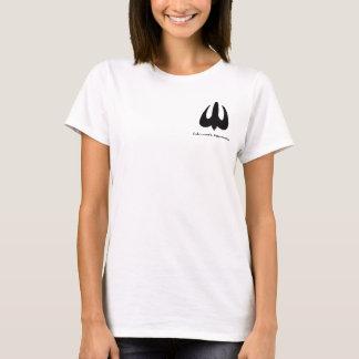 女性の基本的な軽いティー Tシャツ