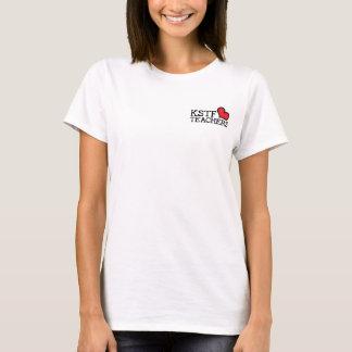 女性の基本的なTシャツ- KSTFのハート: 上の左 Tシャツ