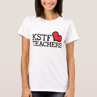 女性の基本的なTシャツ- KSTFのハート: 中心 Tシャツ