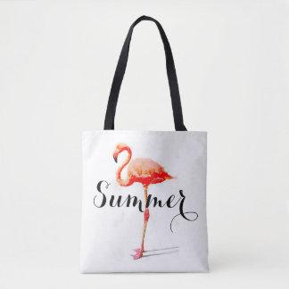 女性の夏のフラミンゴのトートバック トートバッグ